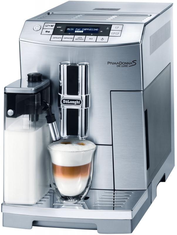 DeLonghi Automatický kávovar PrimaDonna S De Luxe ECAM 26.455