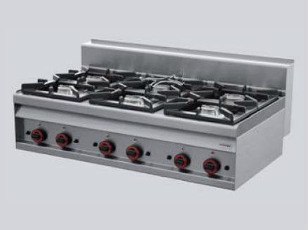 REDFOX Sporák stolní plynový - 6 hořáků PC 12 G