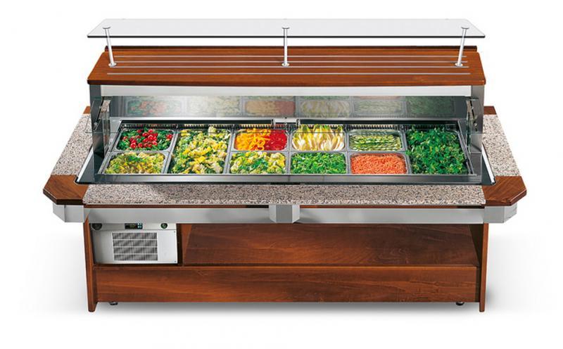 Enofrigo Chladící salátový bar TANGO LUXUS WALL 1400 RF