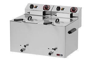 REDFOX Fritéza elektrická 8 + 8 l třífázová s výpustí; FE 77 VT