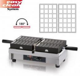 Vaflovač elektrický Fruits 4x6 Krampouz WECAJA, sklopný 180°, madlo I, EasyClean