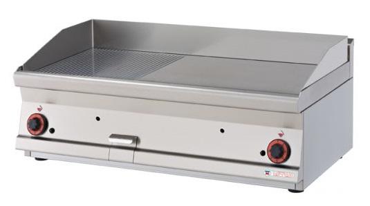 RM Gastro grilovací plotna hladká chrom plynová FTLT - 68 GS