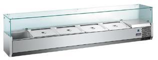 Pizza chladící pultová vitrína MVRX 1800-1/3