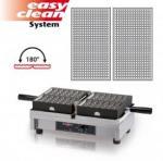 Vaflovač elektrický Fine 16x28 Krampouz WECALA, sklopný 180°, madlo I, EasyClean